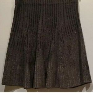 Ann Taylor Velvet Stripped Knit Skirt